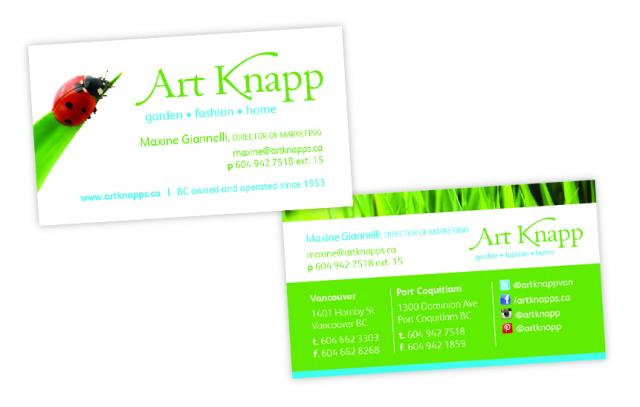 Art Knapp—Business Card Design