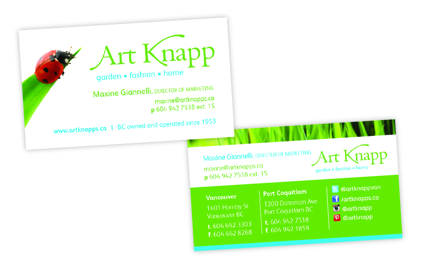 Art Knapp—Business Card Design