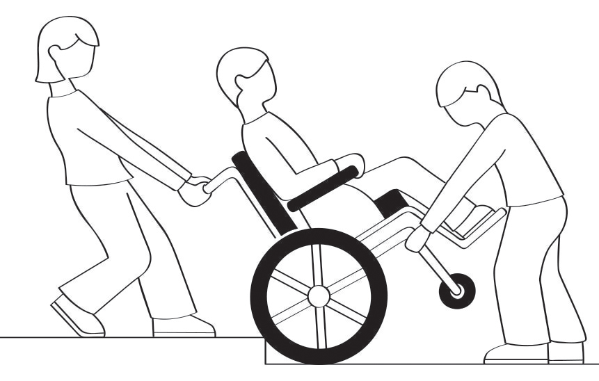 Beyond Expectations—Wheel Chair Use Illustrations