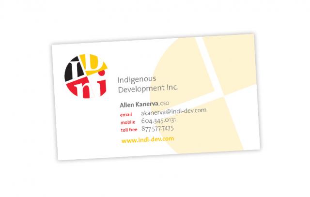 Indigenous Development Inc.—Business Card Design