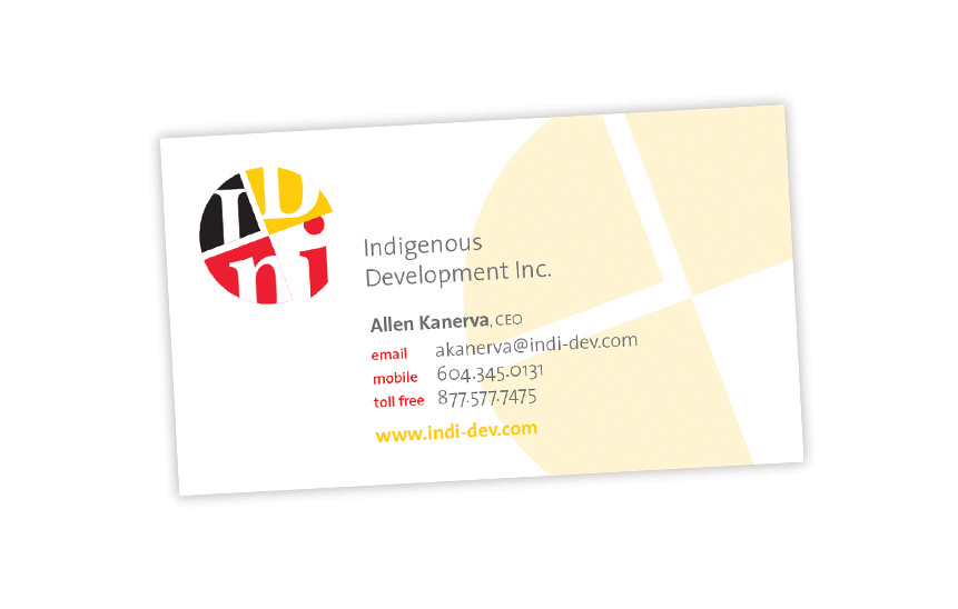 Indigenous Development Inc.—Business Card Design