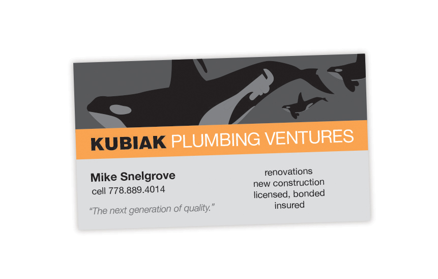 Kubiak Plumbing Ventures—Business Card Design