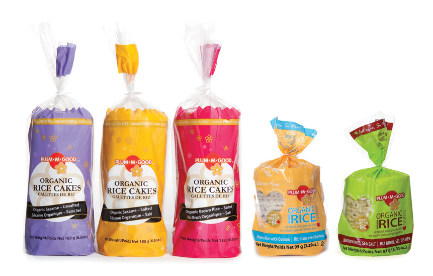 Plum•M•Good—Rice Cake Line Packaging