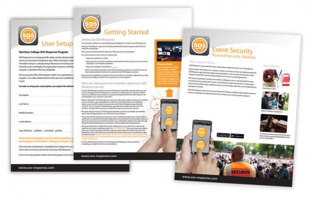 SOS Response—Marketing Material Design