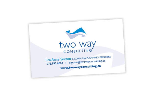 Two Way Consulting—Business Card Design