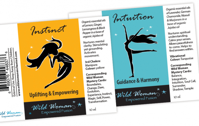 Wild Woman Enchanted —Empowered Fusions Essential Oils Labels