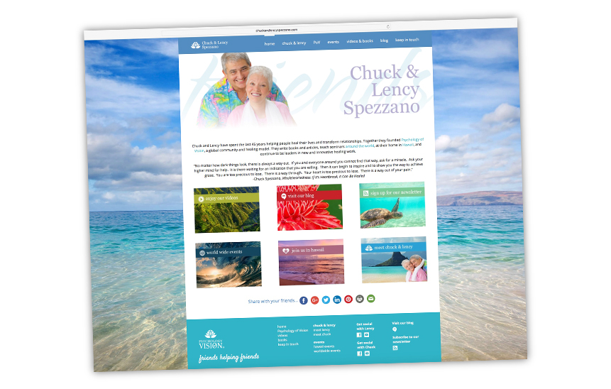 Chuck & Lency Spezzano Website Design
