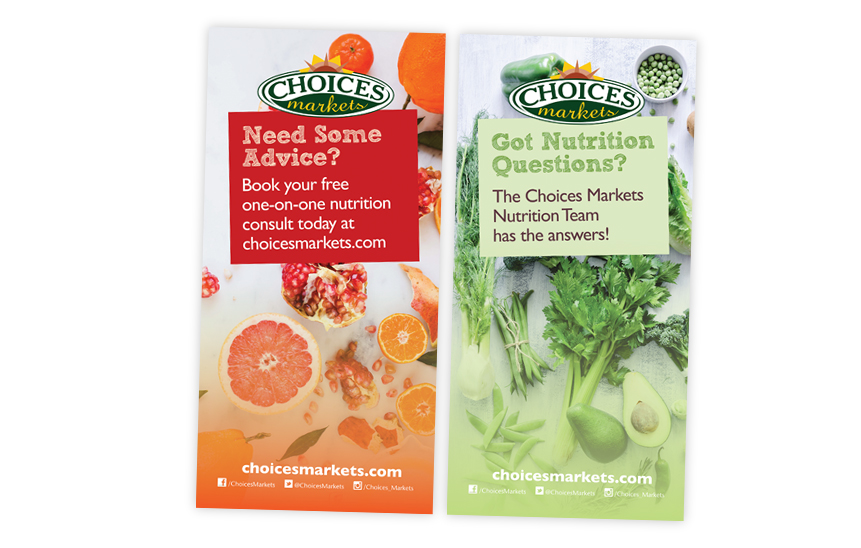Choices Markets Nutrition Telescoping Banners